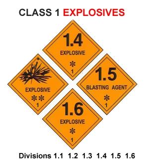 IMDG LABEL CLASS 1