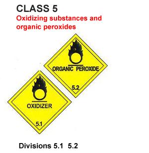 IMDG LABEL CLASS 5